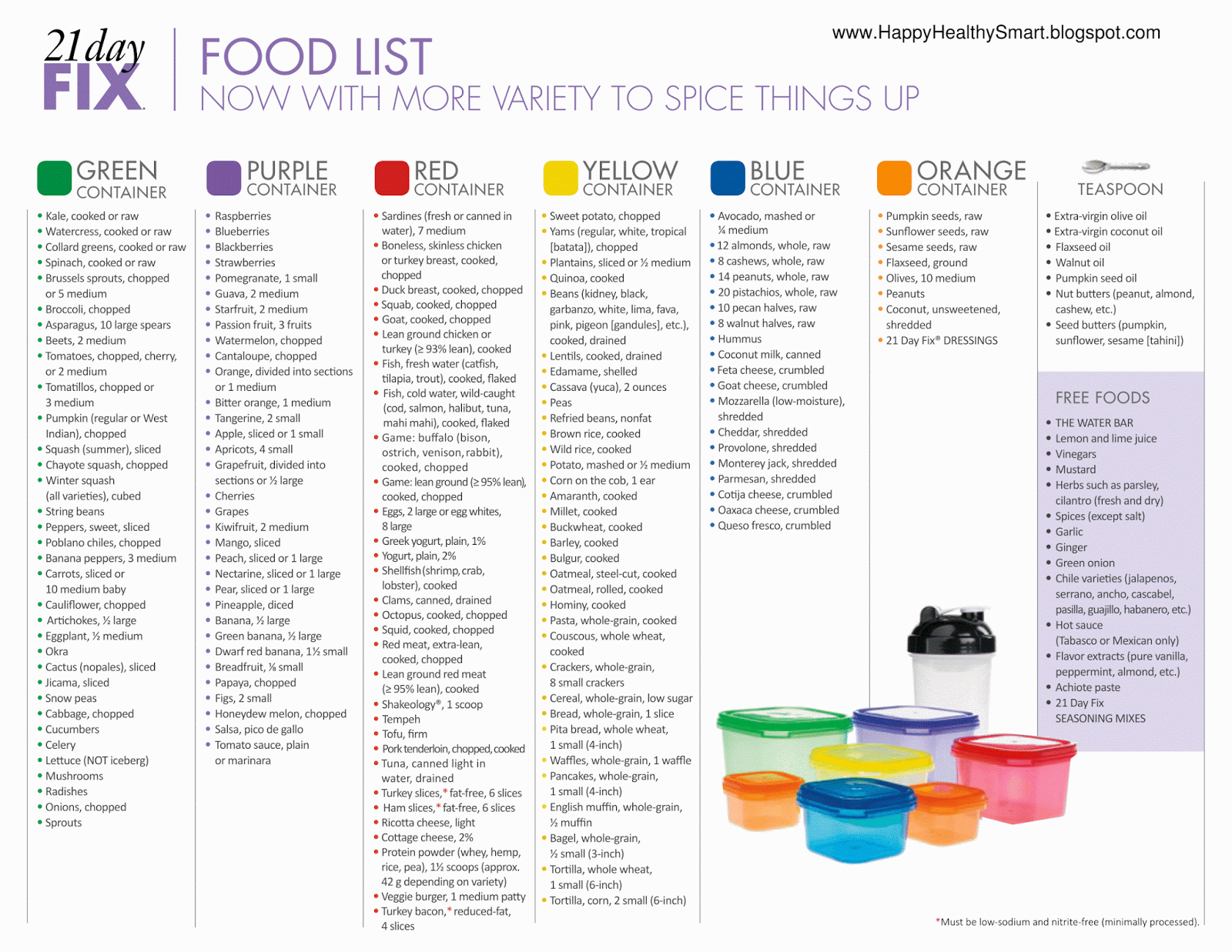 21 Day Fix Food List 21 Day Fix Meals Beachbody 21 Day Fix 21 Day Fix Meal Plan
