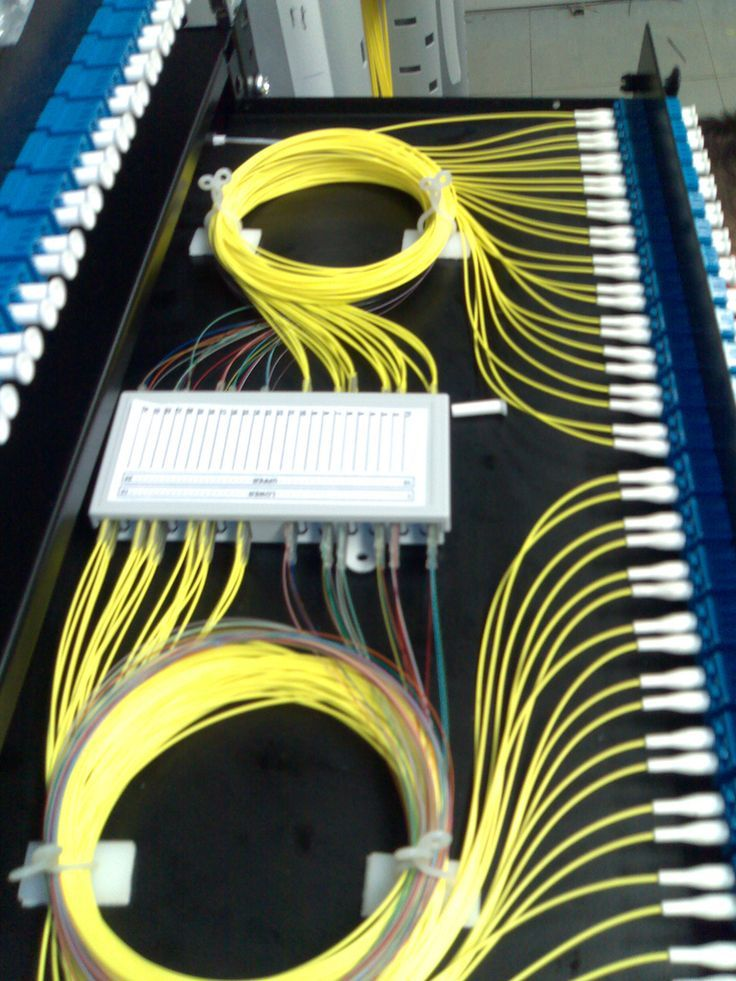 Fiber Splicing Termination Fiber Optic Fiber Optic Cable Structured Cabling