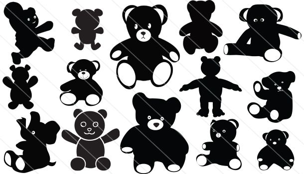 Teddy Bear Vector Graphics Download Silhouette Vector Bear Vector Silhouette Clip Art