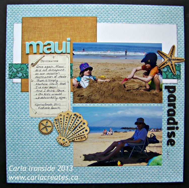 "Carla Creates: CTMH ""Surf's Up"" layout"
