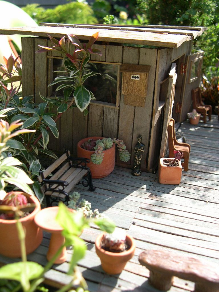 Garden Shed | By Janit Of Two Green Thumbs Miniature Garden Center