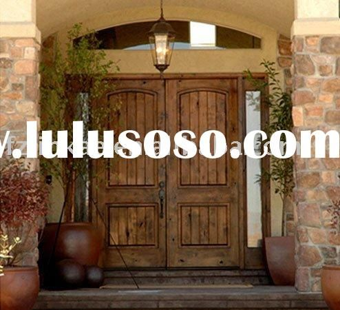 High Quality Luxury Solid Wood Double Doors Exterior DJ S8102 For Sale   Price .