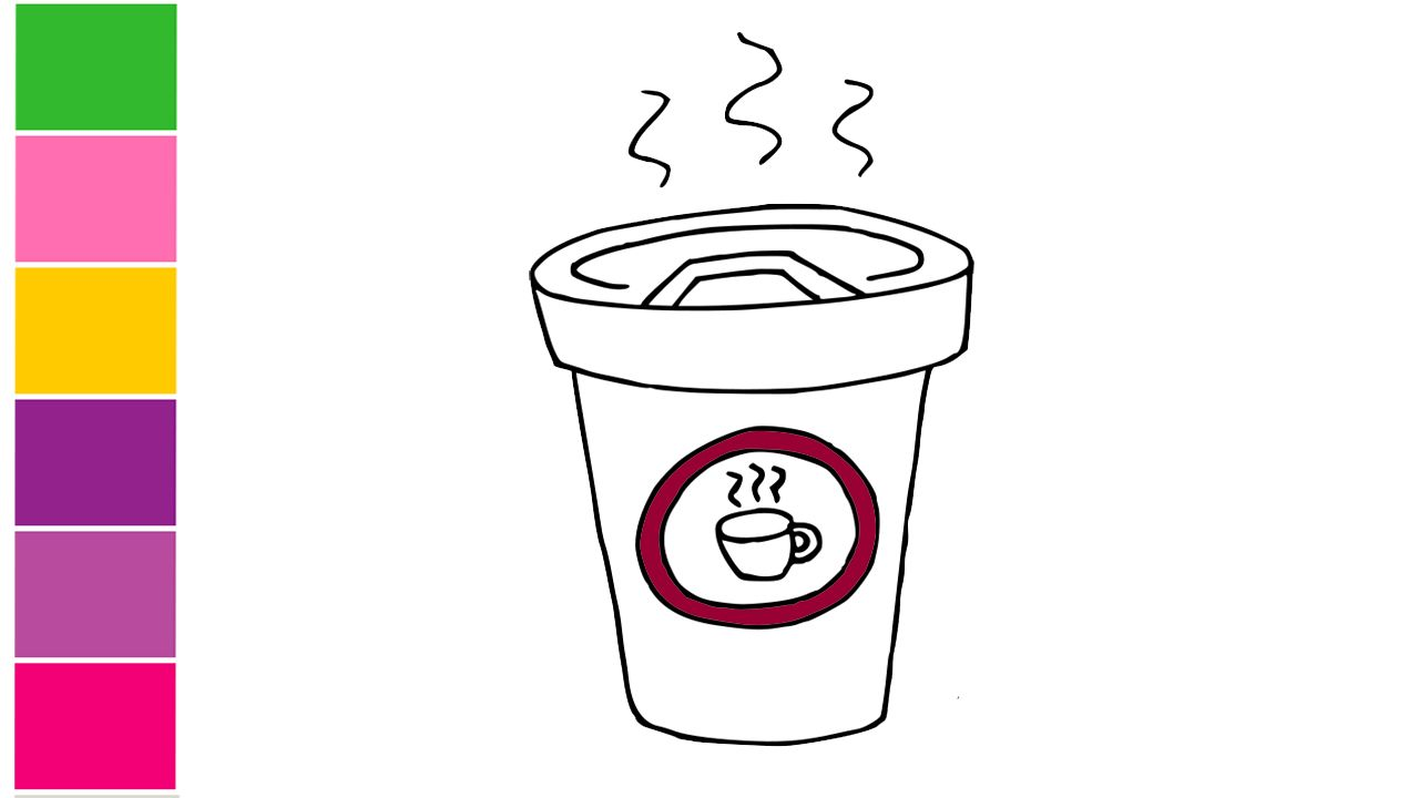 How To Draw A Coffee Cute Step By Step Easy Drawing Lessons For