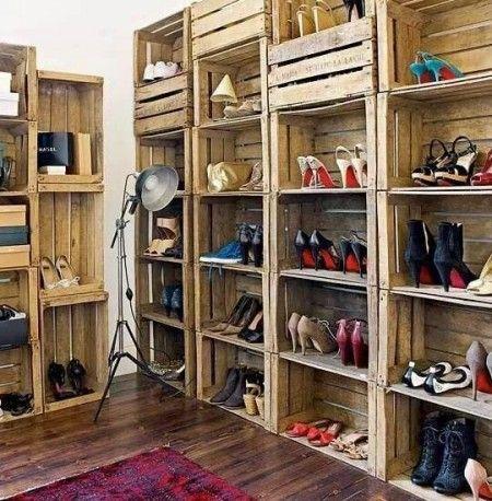 armario reciclado   manualidades y decoracion   pinterest ... - Imagenes De Armarios Hecho Con Cajas Recicladas