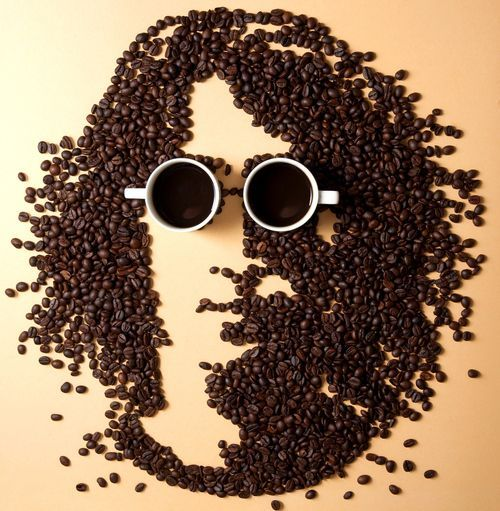 Coffee Bean Art John Lennon Coffee Bean Art Coffee Art Coffee Photography