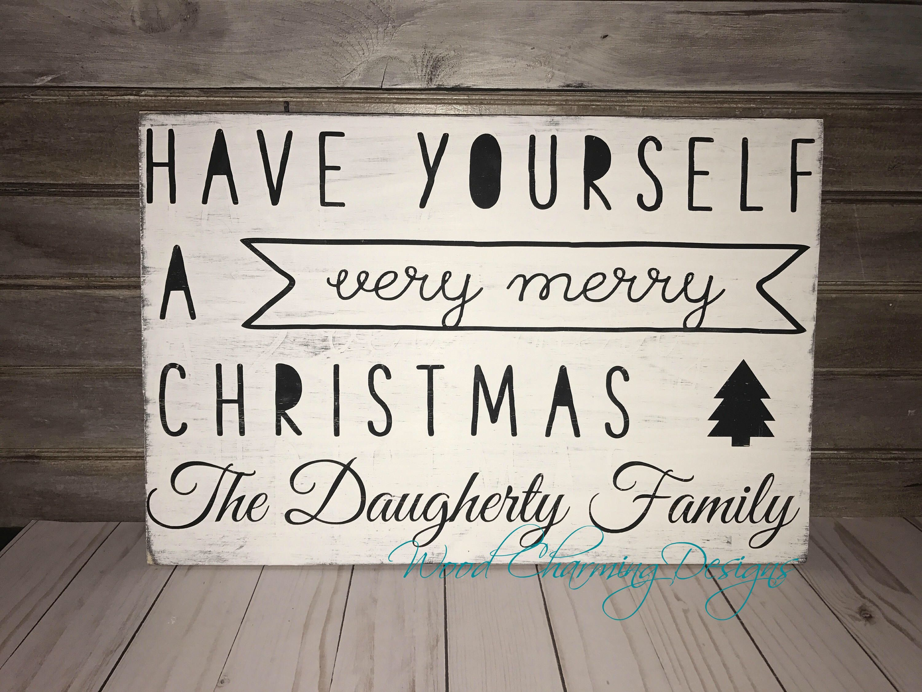 a personal favorite from my etsy shop httpswwwetsycom very merry christmaswood - Have Yourself A Very Merry Christmas