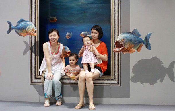 Pinturas 3D incrivelmente realistas são um convite a uma boa foto - 8