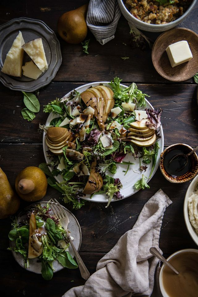 Pear, Parmesan, & balsamic salad | Two Red Bowls | Bloglovin'