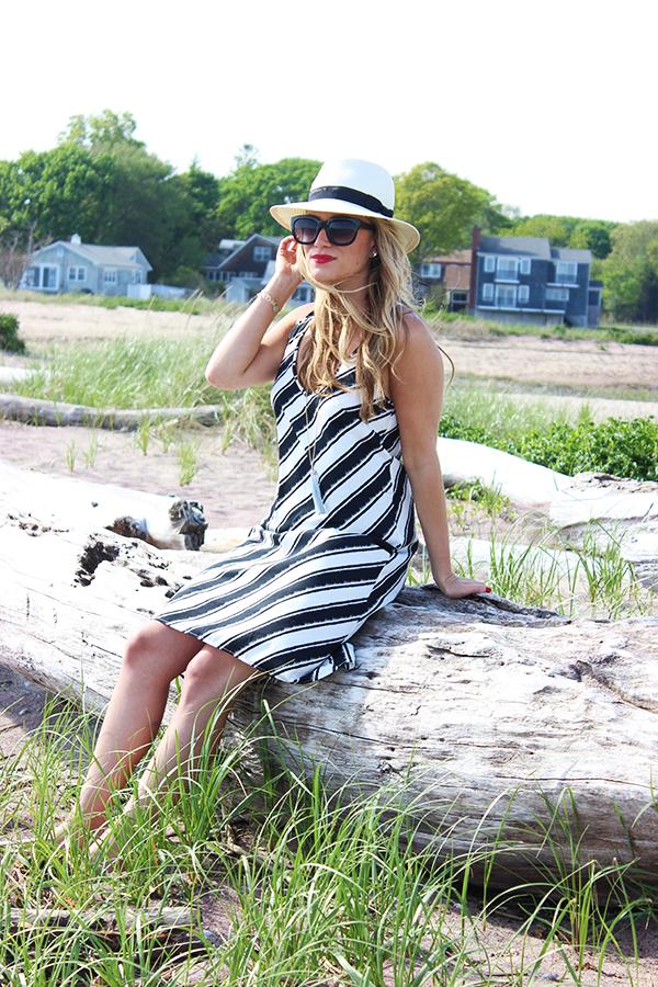 775d256582d6 Style Cusp    wearing H M Dress + Target Panama Hat (on sale ...