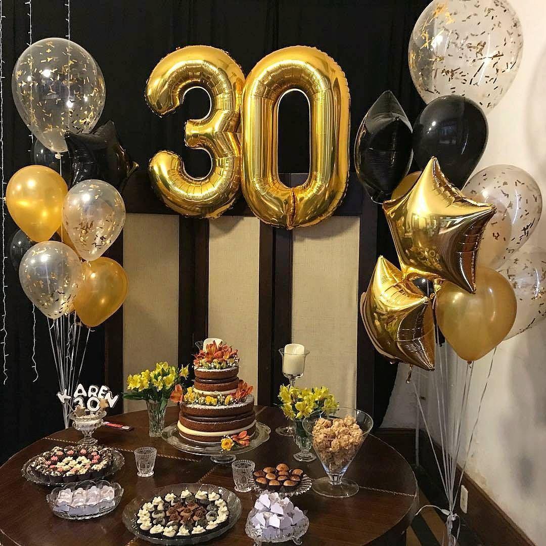 Festa Adulto Para 30 Anos Em Preto E Dourado Via Mousebalo
