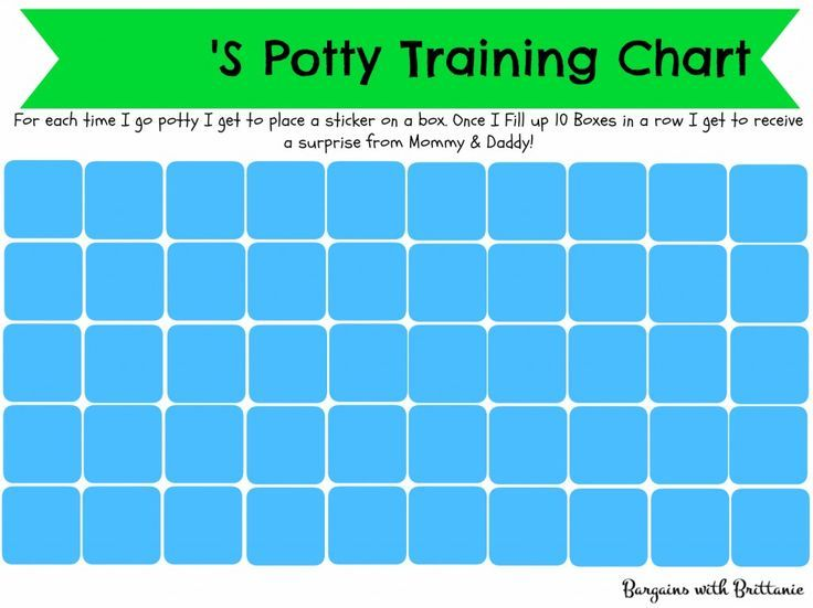 Free Printable Potty Training Charts Girl And Boy Versions