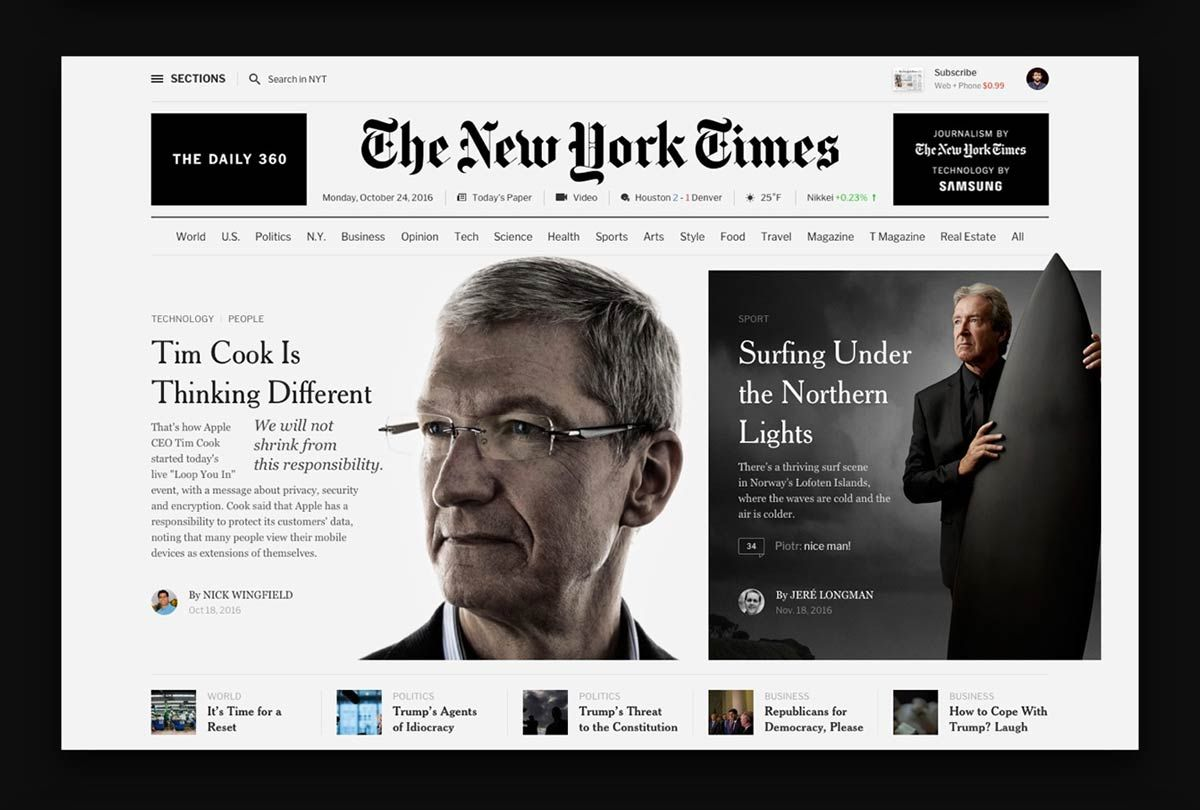 The New York Times Redesign By Flatstudio Inspire Design Editorial Design New York Times Health Magazine Design