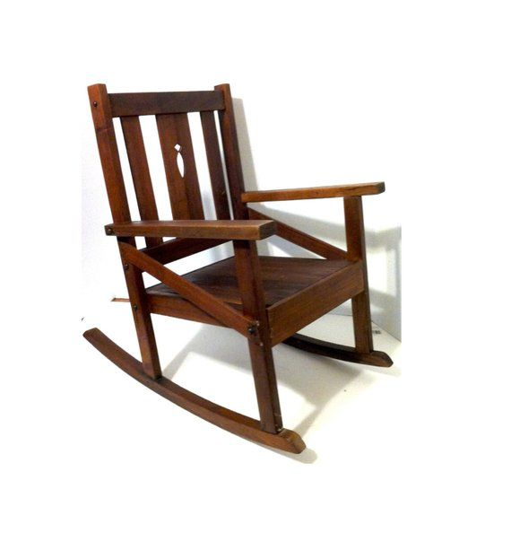 Swell Childs Wooden Rocking Chair Vintage Child Size Wood Rocking Lamtechconsult Wood Chair Design Ideas Lamtechconsultcom