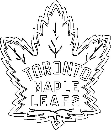 Toronto Maple Leaf Colouring Sheets | Murderthestout