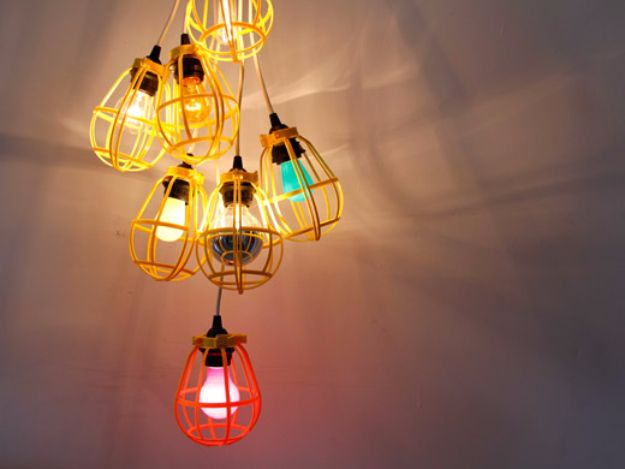 37 Fun Diy Lighting Ideas For Teens With Images Diy Chandelier