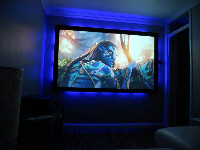 Spare Bedroom Home Cinema Home Cinema Room Led Color Changing