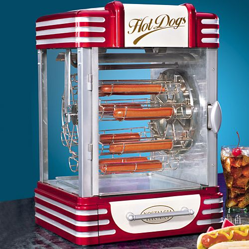 Theater Room Snack Bar: Hot Dog! A Retro Ferris-wheel Cooker For Up To Eight Dogs