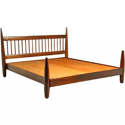 Sergio Rodrigues; King Size Exotic Wood Bed Frame, 1960s. | BEDDED ...