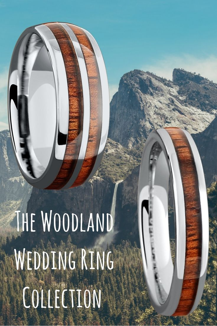Mens and Womens wood wedding rings These wood wedding rings make a