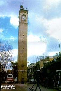 Saat Kulesi     (Seyhan)Adana Ulu Cami mahallesi'nde Hükümet Caddesi uzerindedir. Saat Kulesi'nin üzerinde kitabesi olmamakla beraber Adana Valisi Abidin Paşa tarafından 1882 yılında yaptırıldığı bilinmektedir. Aynı zamanda, Belediye Reisi Hacı Yunus Ağa'nın da Saat Kulesi'nin yapımında emeği geçmiştir. Adana'nın Fransızların işgali sırasında, Saat Kulesi Ermeniler tarafından tahrip edilmiştir. Cumhuriyetin ilanından sonra 1925'te saatinin makinaları Almanya'dan getirtilerek yerine…