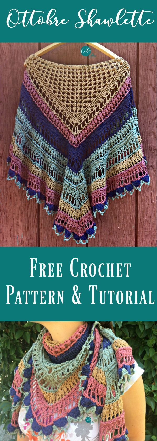 Ottobre Shawlette Free Crochet Pattern and Tutorial | Dreieckstuch ...