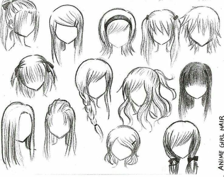 Como Dibujar Anime Chibi Dibujos Dibujar Cabello Dibujar Pelo Y