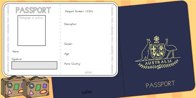 Australian Passport Template  Passport Airline Australia