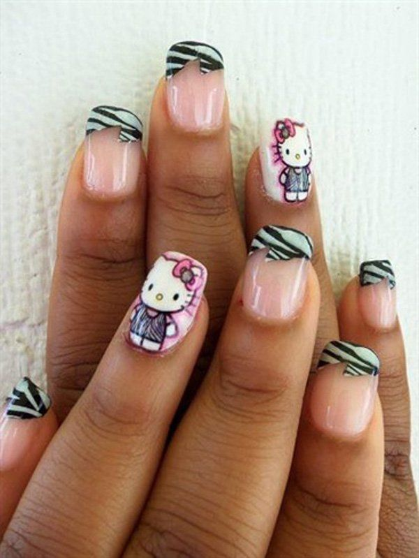 50 Hello Kitty Nail Designs | Hello kitty nails, Kitty nails and ...
