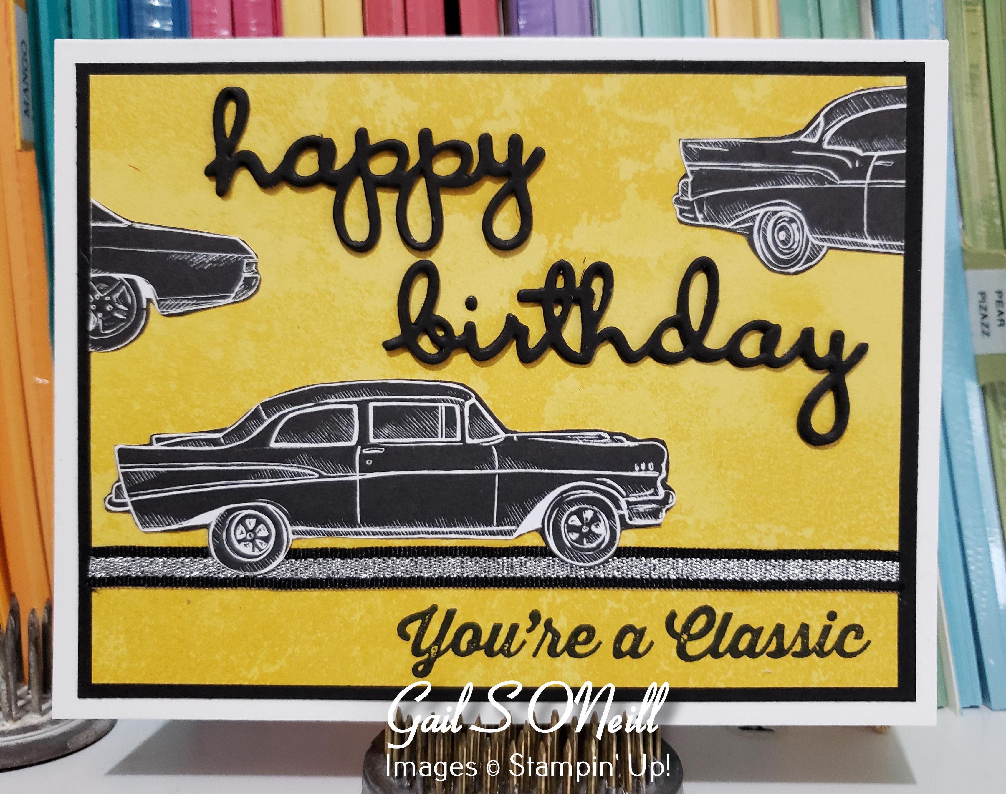Geared Up Garage Stampin Up Masculine Birthday Cards Birthday Cards For Men Handmade Cards Stampin Up