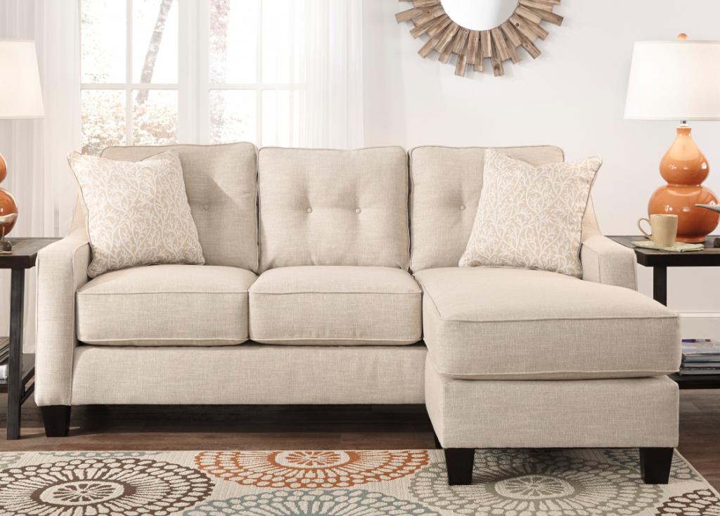 Ashley Aldie Nuvella Sofa Chaise Queen Sleeper Sand Chaise Sofa Furniture Room Furniture