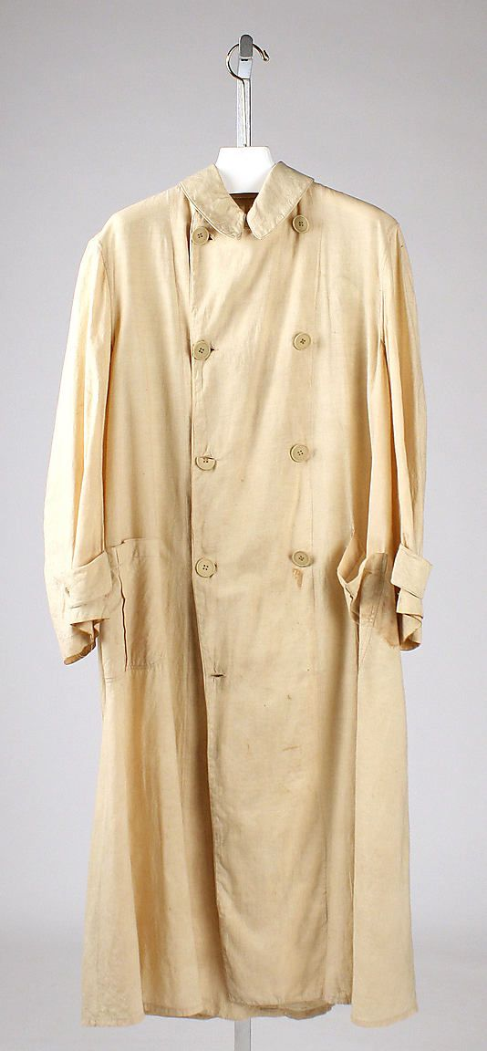 This Is A Duster Coat From 1910 The Duster Coat In Tan