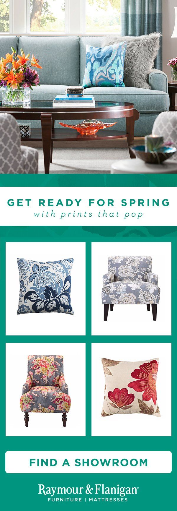 Get Ready For Spring With Prints That Pop Furniture