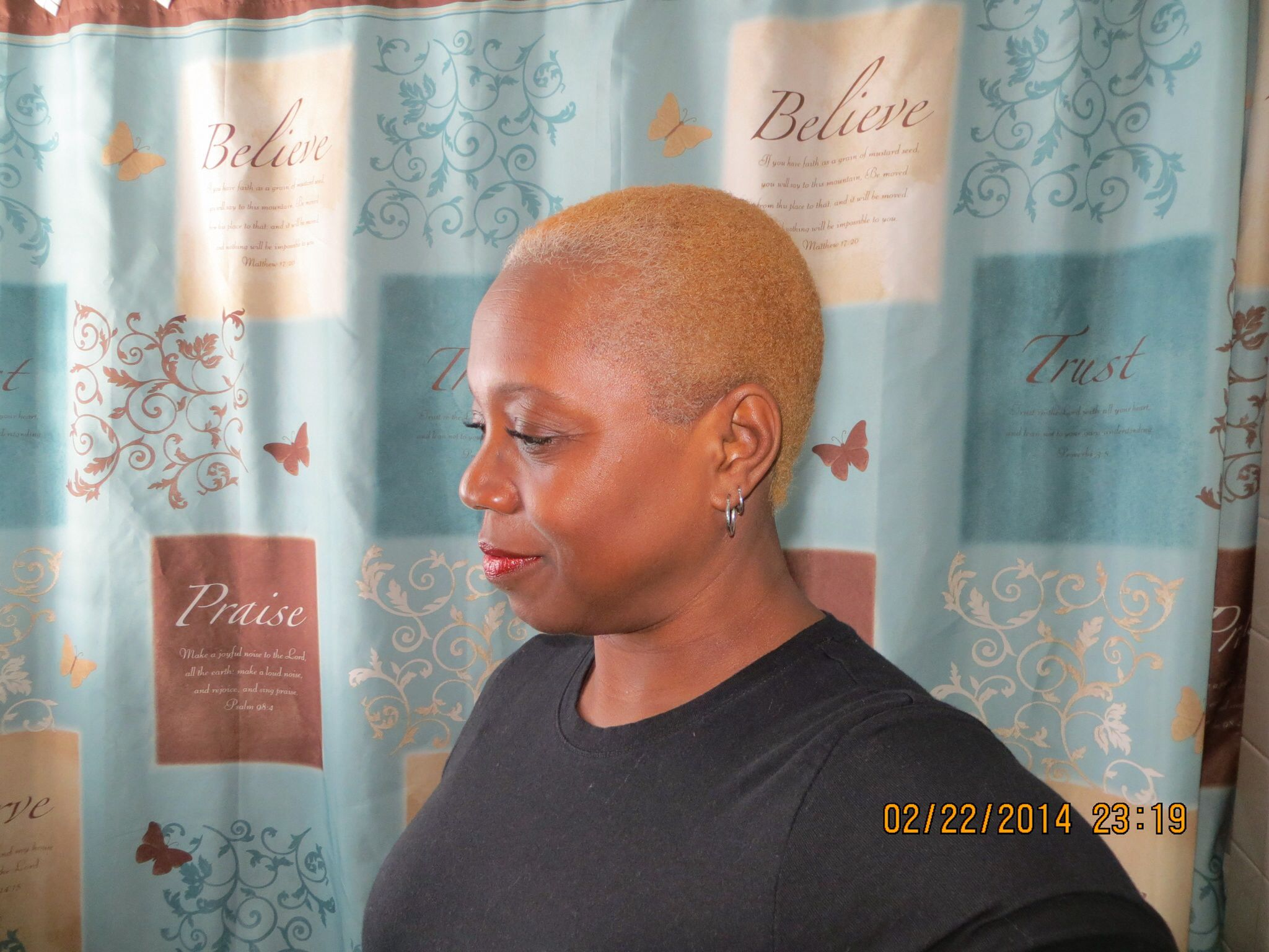 After years of locse the big chop natural hair