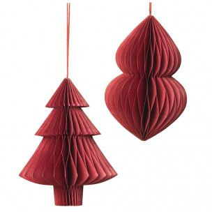 Weihnachtsdeko Christmas Mix Baum Rot 2 Stk Deko Und Geschenke