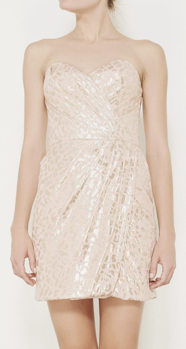 Erin Fetherston Pink And Gold Dress