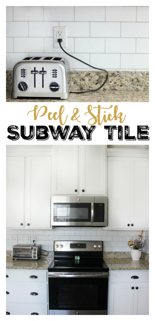 Transform Your Kitchen With A 35 Subway Tile Backsplash Using Wallpaper This Peel And Stick Wallpaper Backsplash Wallpaper Subway Tile Subway Tile Backsplash