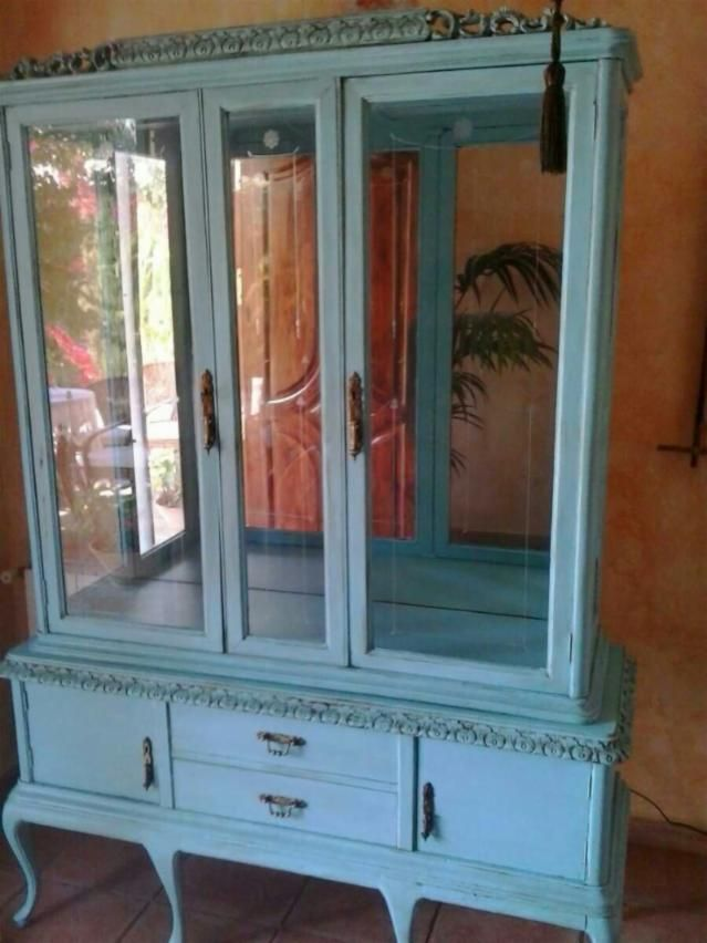Vitrina antigua muebles pinterest vitrinas reutilizar muebles y decoraciones del hogar - Wallapop muebles antiguos ...