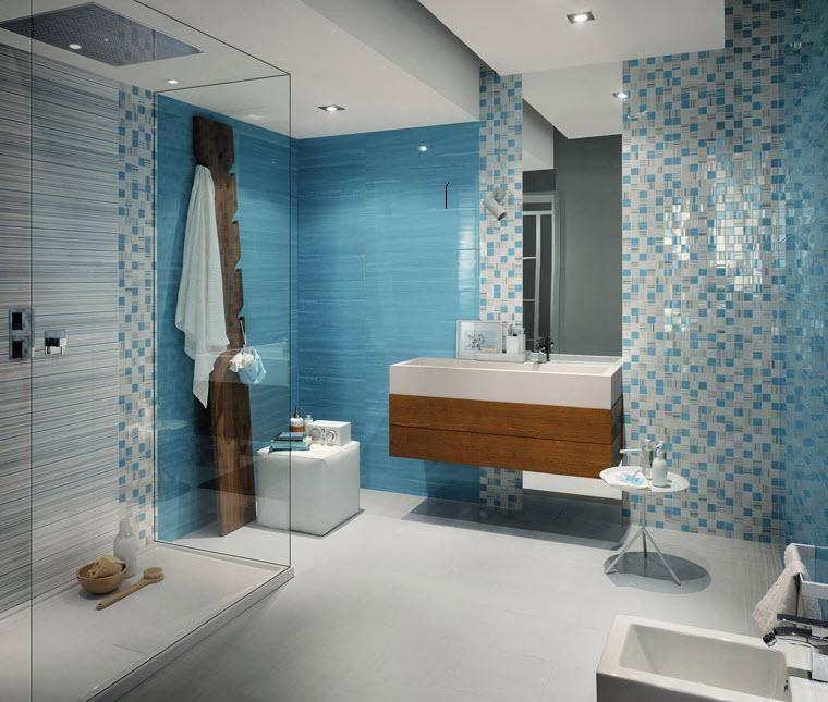 Dise o de azulejos de ba o modernos colores para el - Azulejos de bano modernos ...