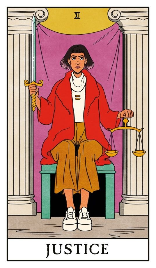 Justice - Modern Witch Tarot, an art print by Lisa Sterle #modernwitch
