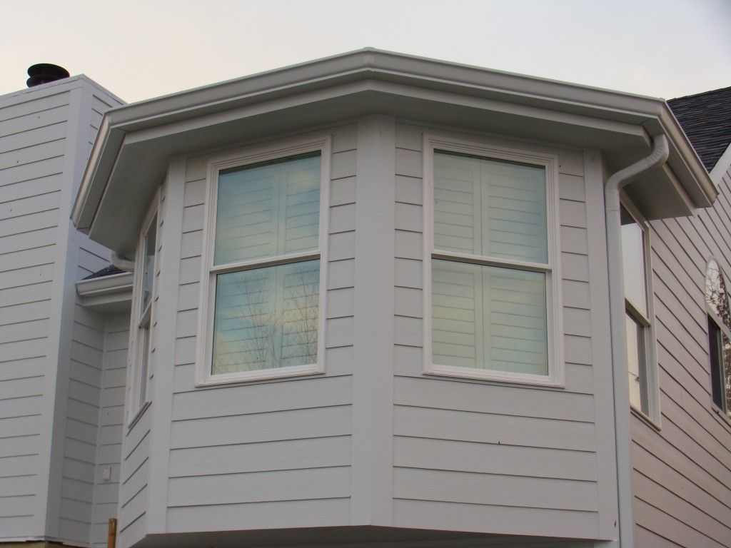 small trim around windows with hardie board | Arctic White