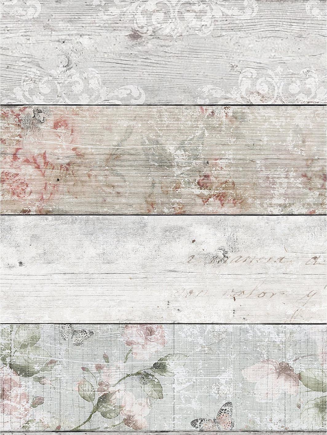 Distressed Wood Floral Wallpaper Distressed Wood Wallpaper How To Distress Wood Wood Wallpaper