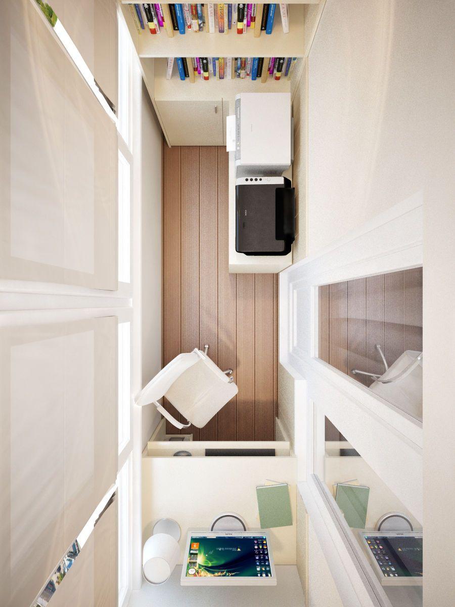 Кабинет на балконе. Фото 2 в 2019 г. | Балкон спальни ...