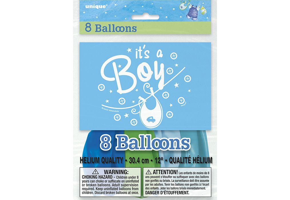 """BALLONS 12"""" """"IT'S A BOY"""" (8)"""