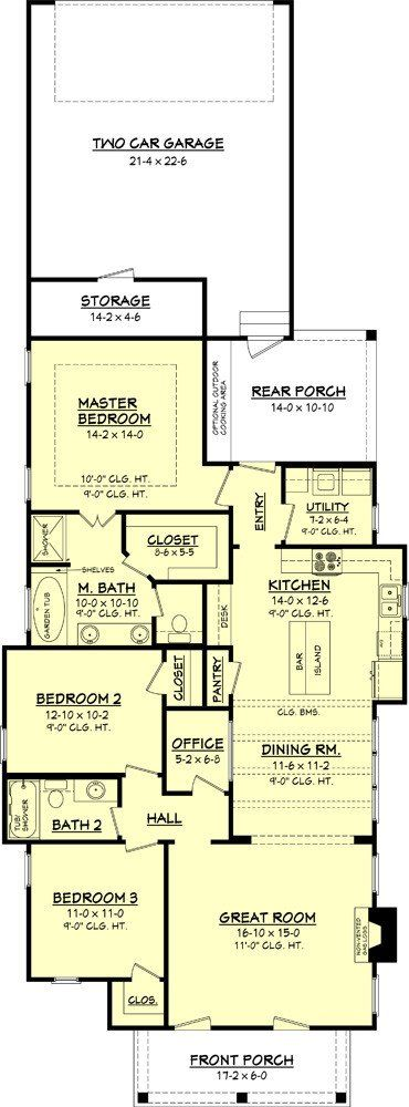 Willow Brook House Plan House plans, Houses and Garage