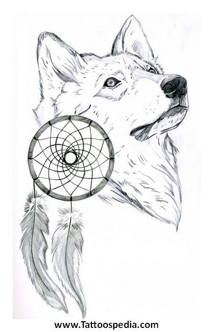 Wolf Dream Catcher Tattoo Outlines Wolf Dreamcatchers Pinterest Extraordinary Wolf Head Dream Catcher