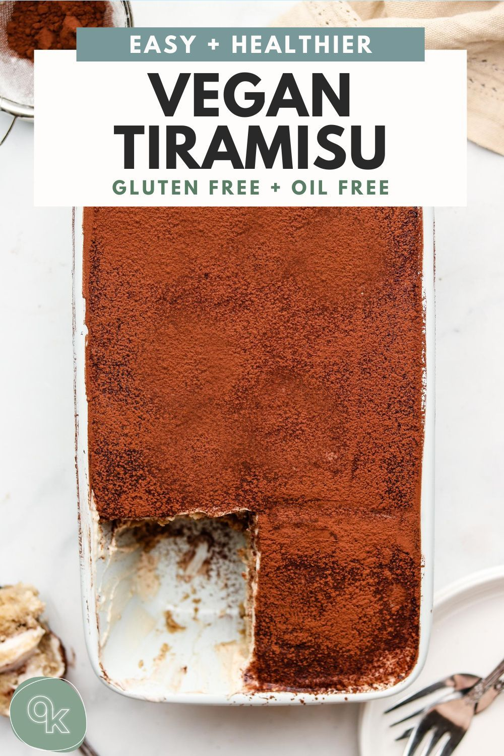Photo of Healthy Tiramisu Recipe (Vegan + Gluten Free)