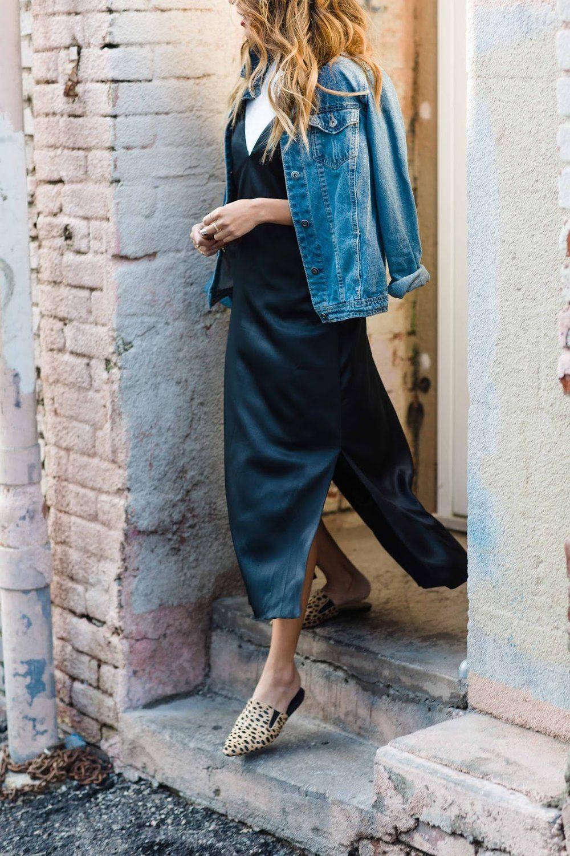 Silk Slides Everyday Pursuits Slip Dress Outfit Slip Dress Outfit Summer Casual Dress Outfits [ 1501 x 1000 Pixel ]