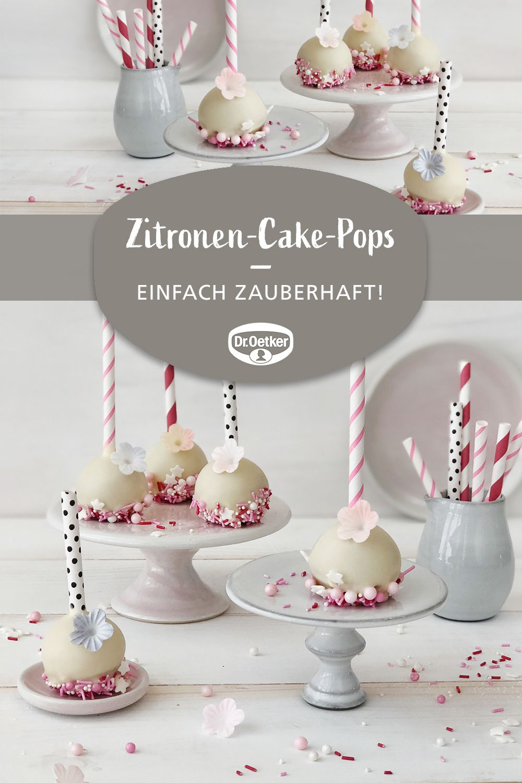 Zitronen-Cake-Pops