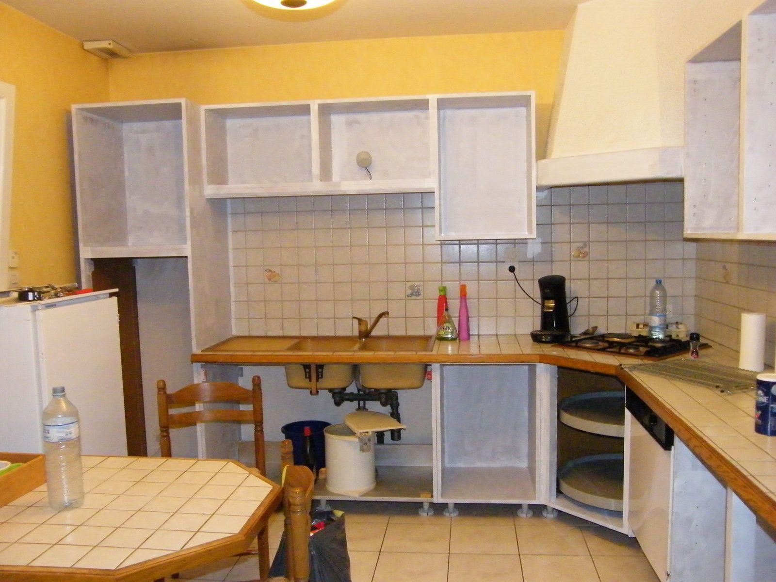 Rénover Une Cuisine Comment Repeindre Une Cuisine En Chêne - Renovation meuble cuisine pour idees de deco de cuisine