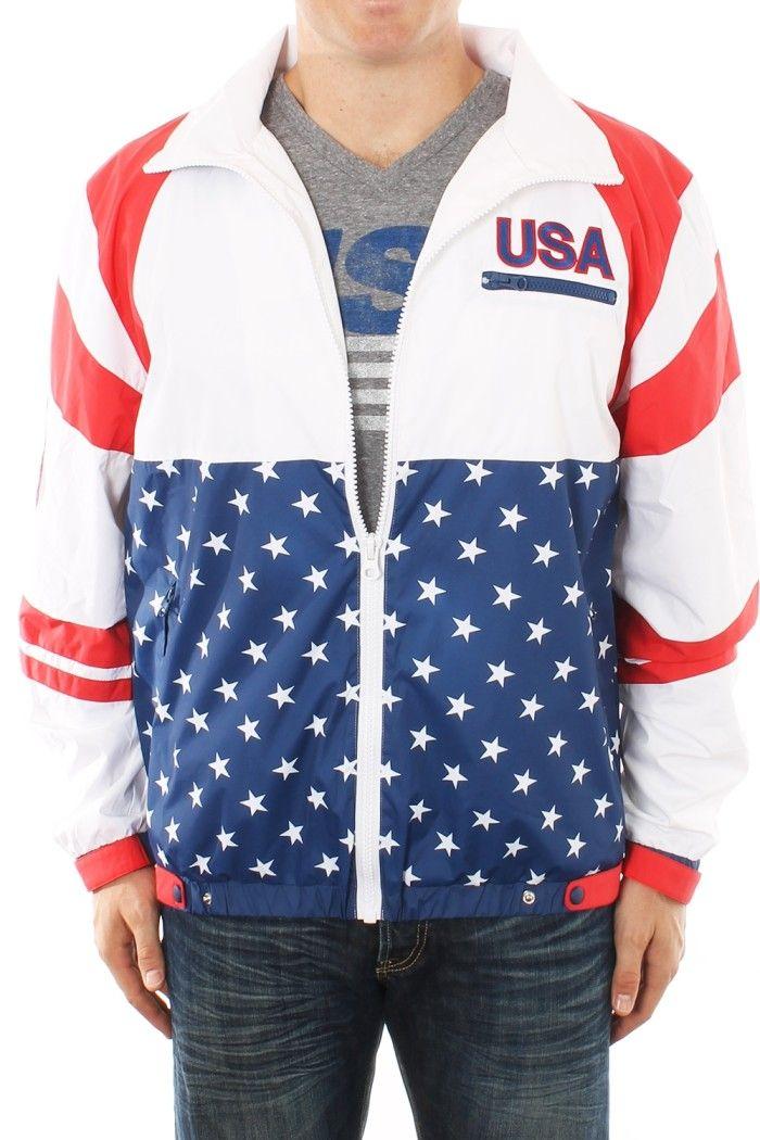 a0d3b0cf21cf Men s USA Windbreaker w  Hood